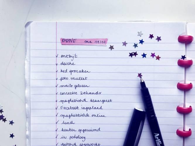 Maakt een 'done-lijstje' gelukkiger dan een to-dolijstje? Redactrice Stéphanie test het uit