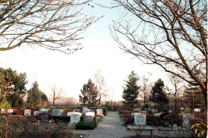 De begraafplaats in Waardenburg