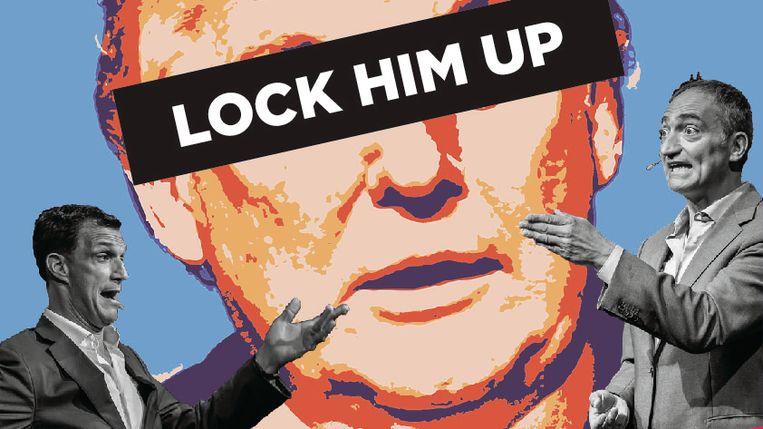 Lock Him Up in Boom Chicago, Beeld Het Parool