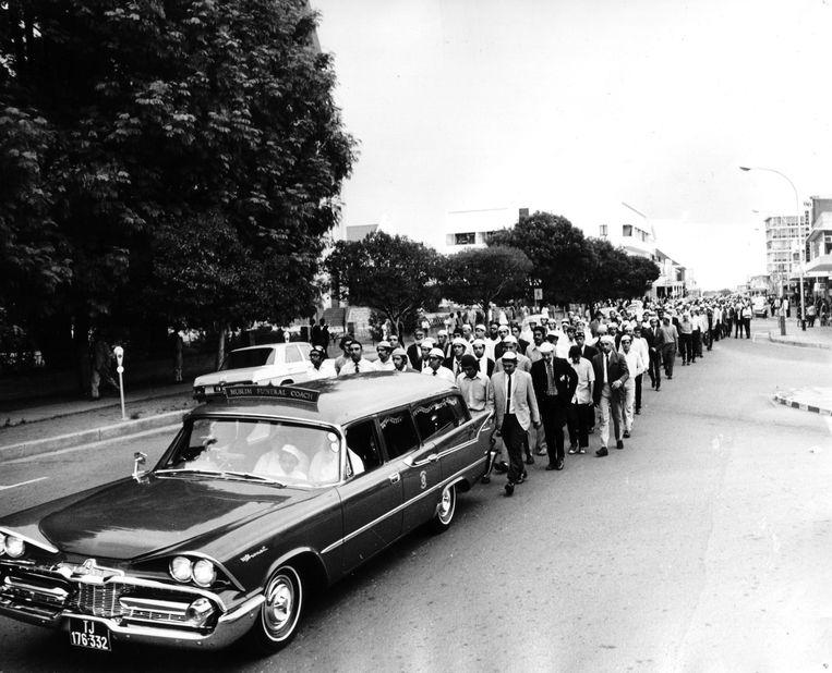 Timols begrafenis in Johannesburg.  Beeld Privé-archief