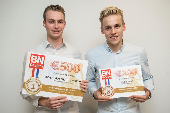 Winnaar Koen van de Klundert en nummer drie Eloy Raas