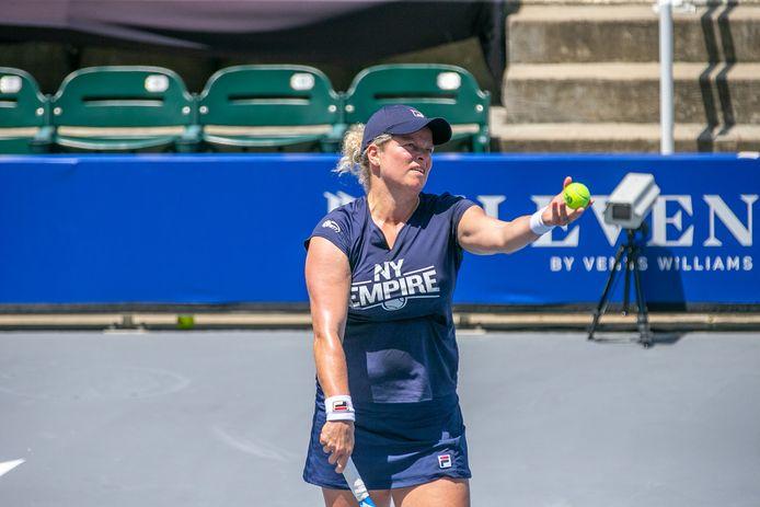 Kim Clijsters n'a pas participé au dernier match de poules de la World Team Tennis.