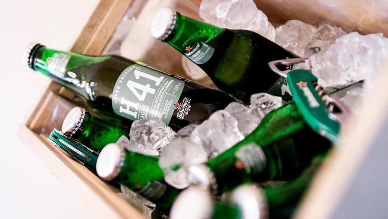 Heineken lanceerde eerder dit jaar speciaalbier H41 in Nederland en Italië, één van de innovaties waaruit het concern nu al 10,5 procent van zijn omzet haalt Beeld anp