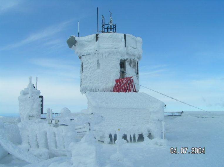 De Observatory Tower op de top van Mount Washington in 2004.