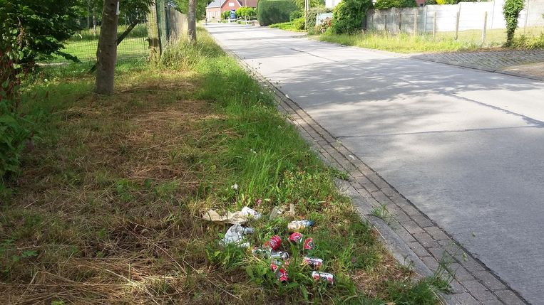 Onder meer langs de Wildebeekstraat in Welle lag er gisteren zwerfvuil.