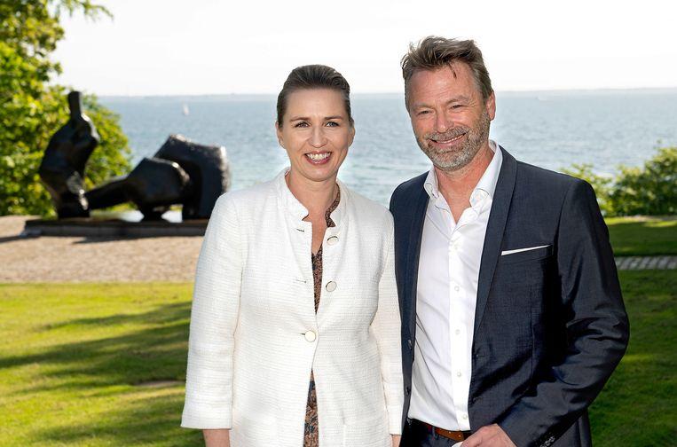 De Deense premier Mette Frederiksen en haar partner Bo Tengberg.