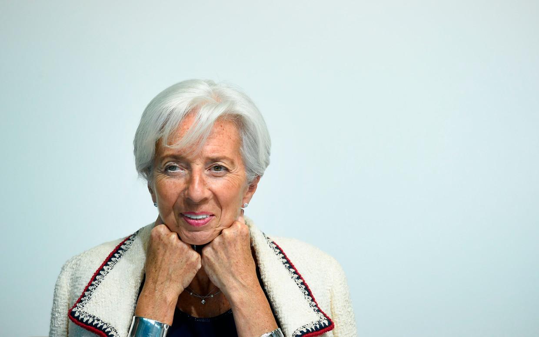 Lagarde tijdens een bijeenkomst van de Eurogroep in Luxemburg eerder dit jaar.  Beeld AFP