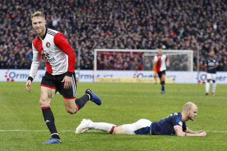 Jørgensen zette Feyenoord op voorsprong.