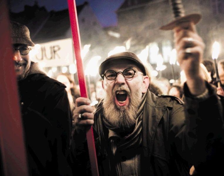 Een schreeuw vanuit Maastricht. (FOTO CHRIS KEULEN) Beeld