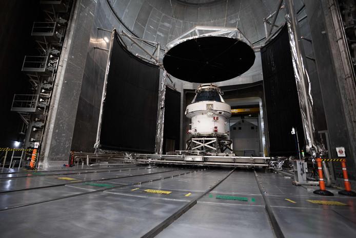 De Orion-capsule in testcentrum Plum Brook Station eerder deze maand.