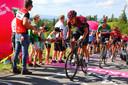Pavel Sivakov in de aanval tijdens de Ronde  van Polen.