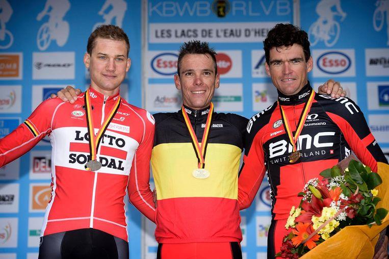 Vorig jaar greep Gilbert de Belgische titel voor Tim Wellens en Greg Van Avermaet.