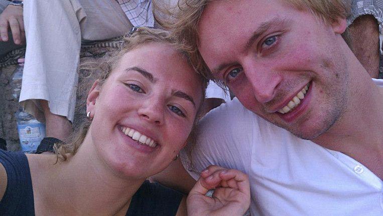 Karlijn en haar geliefde Laurens. Beeld ap