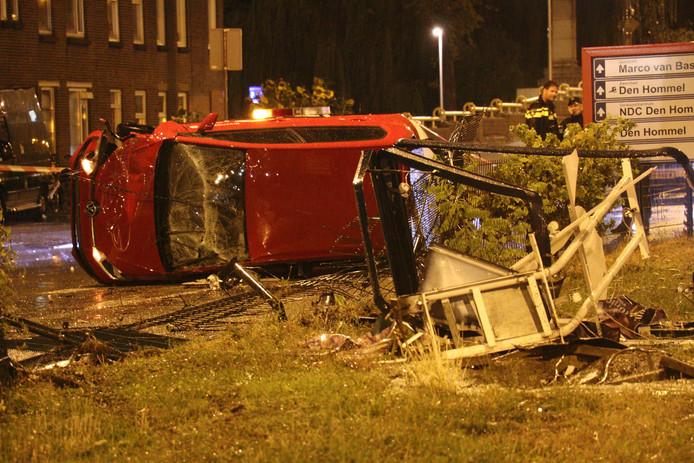 De ravage na het ongeluk was groot.
