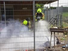 Brand bij jongerencentrum op de Gelenberg in Afferden