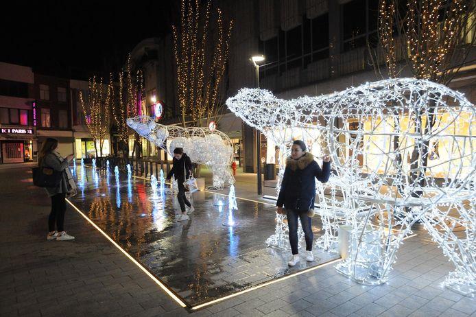 Archiefbeeld van eindejaarsverlichting op de Botermarkt.
