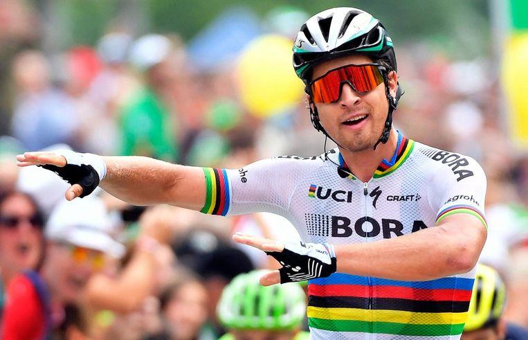 Peter Sagan wint de vijfde etappe in de Ronde van Zwitserland. Beeld epa