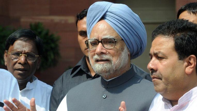 Manmohan Singh Beeld afp