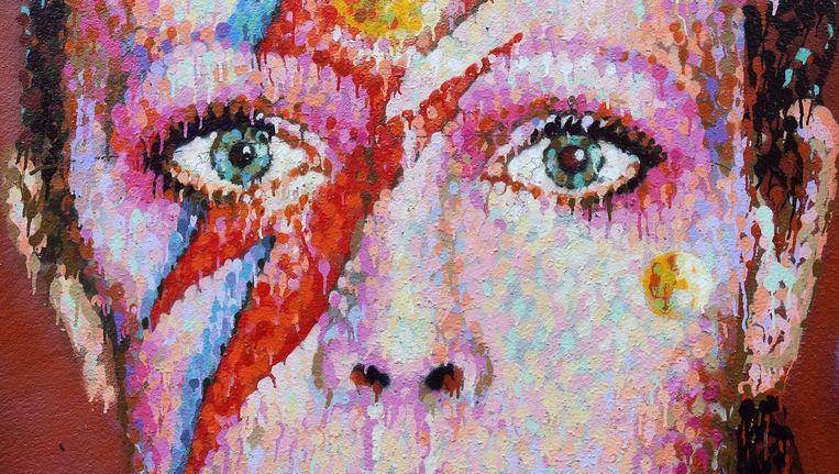 Een muurschildering van David Bowie in Brixton in Londen, de geboorteplaats van Bowie. Beeld epa