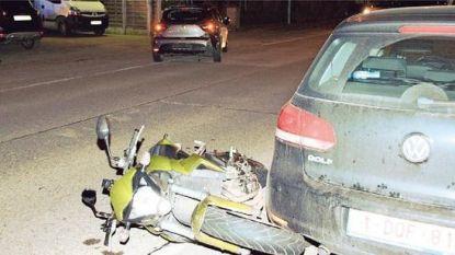 Motorrijder gewond na botsing