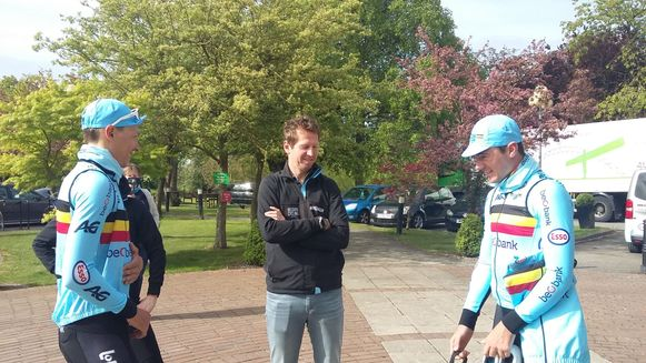 Oliver Naesen, Rik Verbrugghe en Yves Lampaert.