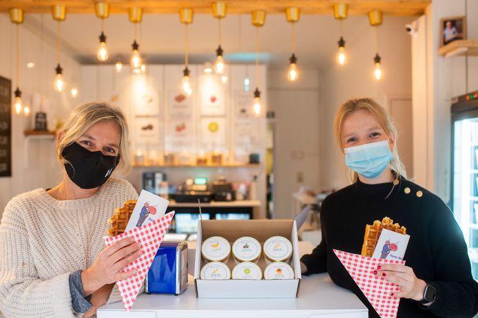Hilde verkoopt sinds vandaag in haar pop-upwinkel wafels met een kantje Marc Sleen aan.