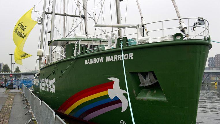 Greenpeaceschip Rainbow Warrior Beeld ANP