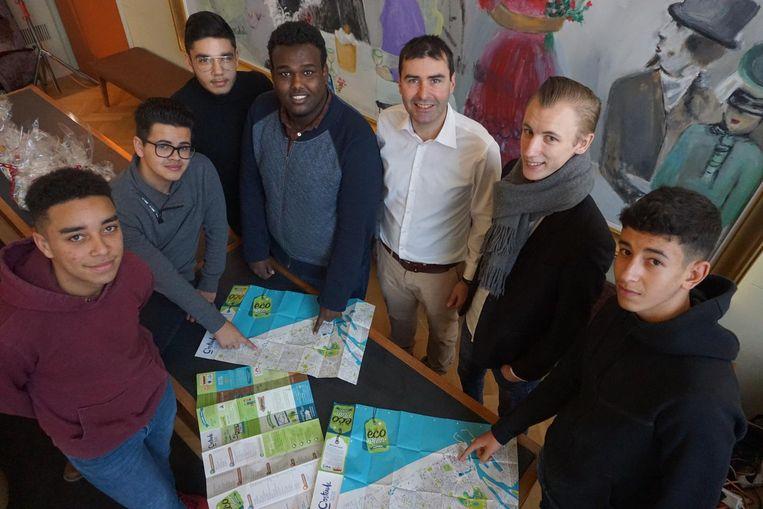 Deze leerlingen van Sint-Jozef werkten mee aan het Ecoplan.
