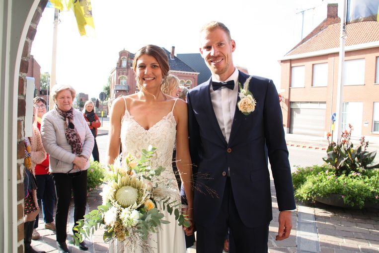 Profrenner Tim Declercq getrouwd met Tracey Debruyne in Houthulst.