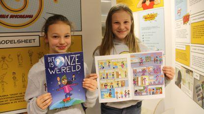 Kinderen Zonnebloemschool stellen eigen stripverhaal voor