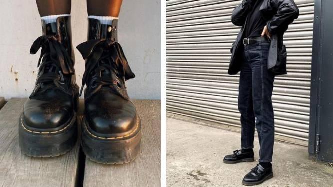 """Dr. Martens trekt naar de beurs. Hoe de orthopedische laarzen de hipste van de eeuw werden: """"Zelfs de Dalai Lama heeft een paar"""""""