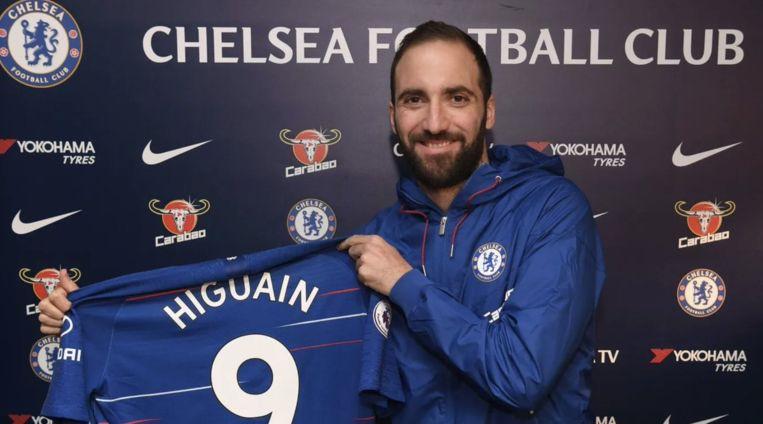 Higuain is intussen voorgesteld bij Chelsea.