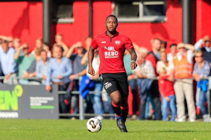 Coplan Soumaoro bezorgde zaterdagmiddag via een penalty zijn ploeg DETO de overwinning tegen Sparta Nijkerk (archieffoto).