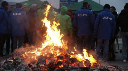 Actiedag vakbonden begonnen: industriezones geblokkeerd, bus- en tramverkeer verstoord, staking in meer dan 260 metaal- en textielbedrijven