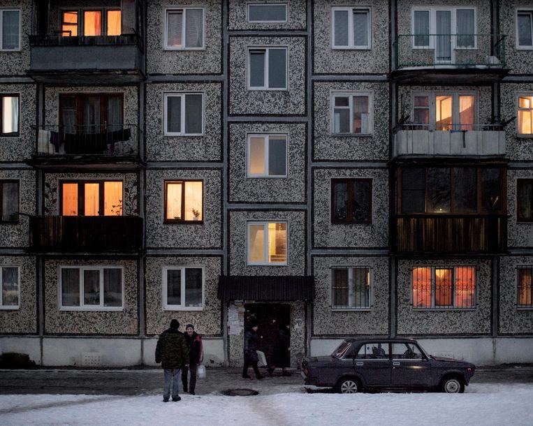 Een huizenblok in Rodina. Beeld Emile Ducke