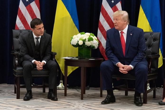 Le président ukrainien, Volodymyr Zelensky et Donald Trump.