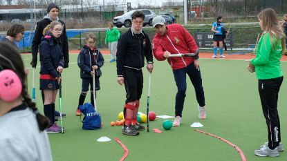 Wereldkampioenen hockey trainen G-sporters op G-Hockey Happening in Edegem