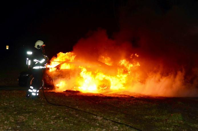 Autobrand in Zegge.