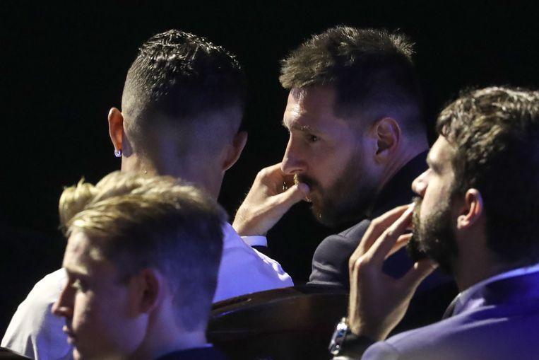 Ronaldo en Messi goeie vrienden tijdens de ceremonie.