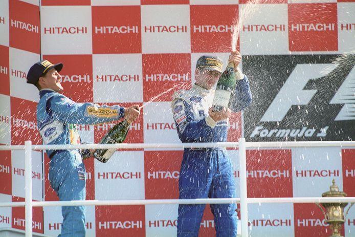 Schumacher en Hill.