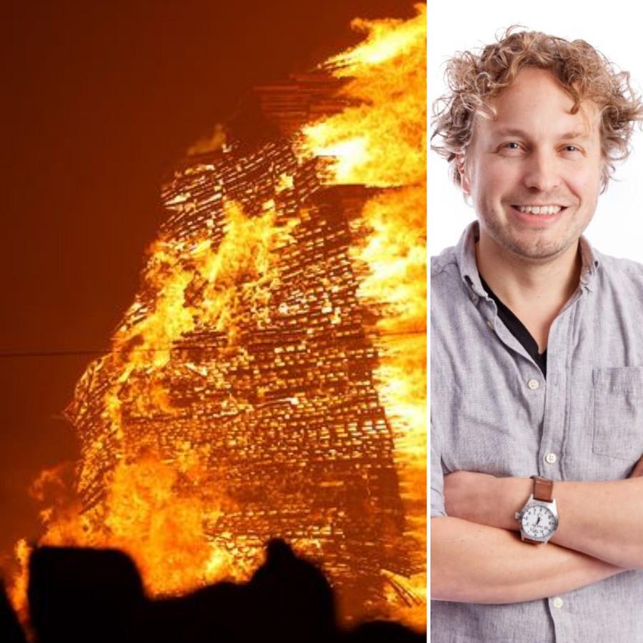 Huizenhoge stapels hout zetten we in lichterlaaie. En volgende week gaat het weer over brandgevaar en rookmelders in huis, ziet columnist Niels Herijgens.