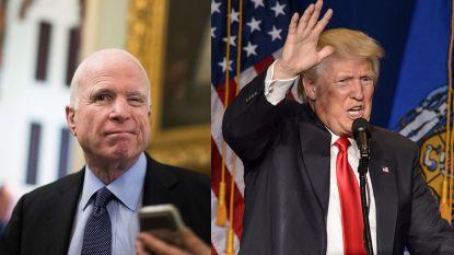 Vete tussen McCain en Trump gaat verder over het graf