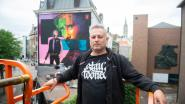 """Antwerpse kunstenaar maakt muurschildering van Matthias Schoenaerts op Leopoldplaats: """"In het thema van zijn nieuwe Netflixfilm"""""""
