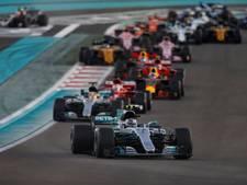 Bekijk hier hoe Bottas de leiding houdt bij de start van de GP van Abu Dhabi