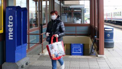 Alle pendelaars dragen mondmasker aan station van Herentals
