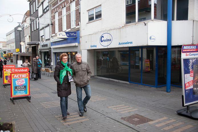 Leegstand in de Noordstraat in Terneuzen