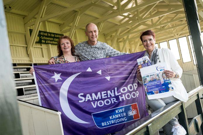 Gerda Boertien, André Tuller en Annelies Boertien zijn mede-organisator van de Samenloop voor Hoop.