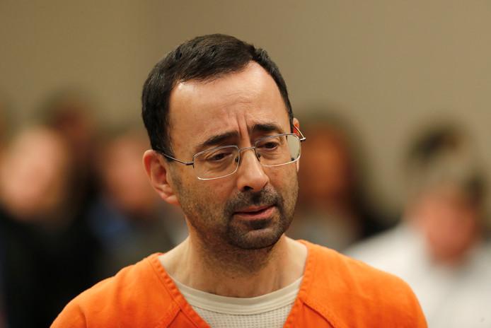 Larry Nasser in de rechtbank.
