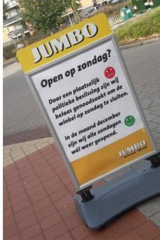 Boze Jumbo-baas in Nijverdal plaatst ludieke tekst bij ingang