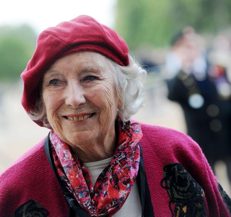 Vera Lynn, hier in 2009. Ze was een 'Brits oorlogsmonument', vooral met haar liedjes. Beeld EPA